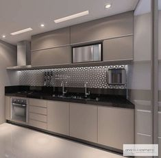 57 extraordinary kitchen design ideas for you that really like the beauty of - Modern Kitchen Kitchen Room Design, Luxury Kitchen Design, Contemporary Kitchen Design, Kitchen Cabinet Design, Home Decor Kitchen, Interior Design Kitchen, Kitchen Furniture, Modern Design, Modern Apartment Design