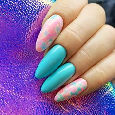 Don't Worry, Beach Happy, Chiquita Banana, Los Flamingos, Sugarmama, Call Me a Unicorn  from Miami Collection 2017 by Natalia Siwiec By Indigo Educator Paulina Porębska, Zakopane #nails #nail #indigo #indigonails #nailsart #miami #summernails #springnails #hotnails #sexynails #marble