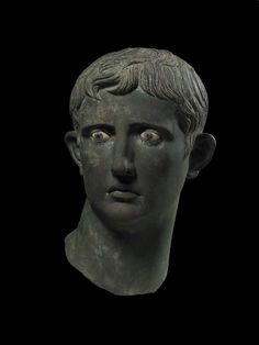© The Trustees of the British Museum The Meroë Head; The Head of Augustus, Roman, Egypt; Sculpture Head, Roman Sculpture, Primary History, Emperor Augustus, Auguste, Roman Emperor, Ancient Rome, Ancient Greece, Statues