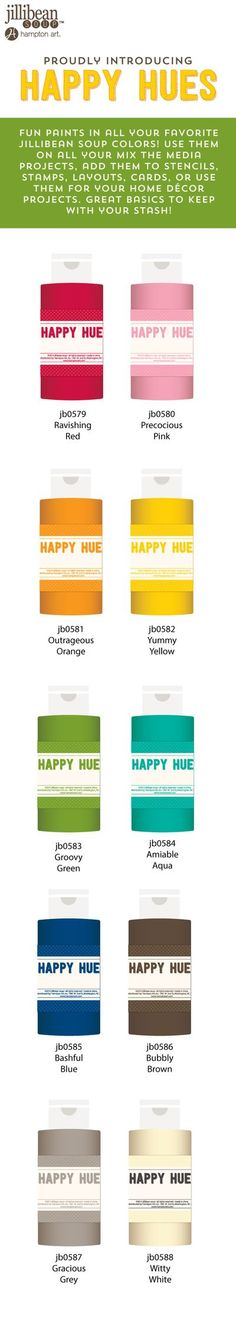 Jillibean Soup Sneak Peek #4. Happy Hues paints! In all your favorite Jillibean Soup colors! You can WIN IT BEFORE YOU CAN BUY IT! Click through to our blog and leave a comment for a chance to win!