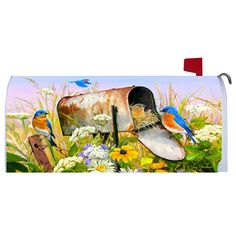 Shop the Lang Store for calendars by Lang, Avalanche and Wells Street by LANG products. Painted Mailboxes, Mailbox Covers, Hollyhock, Blue Bird, Mail Boxes, Gardens, Painting, Decor