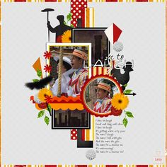 Bert and Mary Poppins scrapbooking layout by Omaha; digiscrap; Disney parks