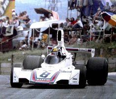 Carlos Pace on BT44B 1975