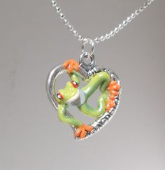 fanART Heart tree frogs hang around unique gift by ElectronicGirl, $55.00