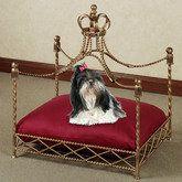 Pampered Royalty Pet Bed Frame Antique Gold;   <>