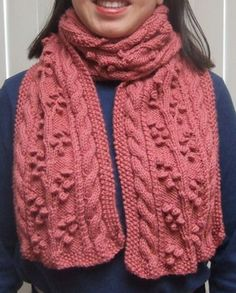 Regina cable scarf FREE pattern ~ smariek knits (see also matching Regina mittens)