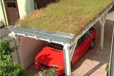 Grass roof on a carport + VER https://br.pinterest.com/pin/392939136226251742/