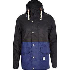 Navy Bellfield split colour fisherman jacket - jackets - coats / jackets - men