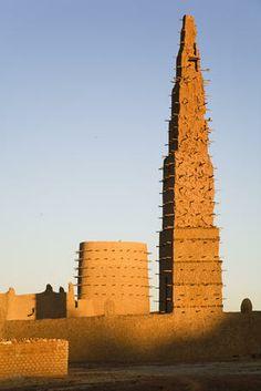 Minaret of Grand Mosque du Bani.~ Burkina Faso,Africa