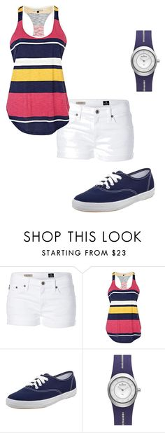 Summer Navy by kemill530 on Polyvore featuring River Island, AG Adriano Goldschmied, Keds and Skagen
