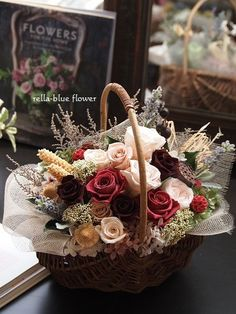 this is my life☆ Valentines Gifts For Boyfriend, Valentine Gifts, Dried Flowers, Blue Flowers, Bouquet Box, Flower Boutique, Diy For Men, Garden Images, How To Preserve Flowers
