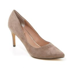 Wendy Williams Leather, Suede or Haircalf Pump - Dark Nude