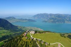 Mount Klewenalp with view to Lake Lucerne, Boutique-hotel Schlussel, Beckenried at Lake Lucerne Places Ive Been, Places To Go, Alpine Adventure, Seen, Travel List, Boutique, Trip Advisor, Europe, River