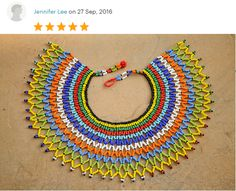 Majestic beaded collar necklaceAfrica by akwaabaAfrica on Etsy Bead Crochet, Crochet Necklace, Beaded Jewelry, Beaded Necklaces, Unique Jewelry, Beaded Collar, Thoughtful Gifts, Buy And Sell, Zulu
