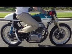 1968 Honda CB350 Custom Cafe Racer GoPro Hero 3+ - YouTube