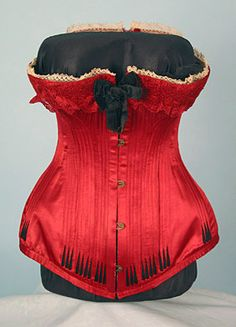 Red French Corset, c. 1890.