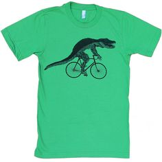 Kids Alligator on a Bicycle T-Shirt Custom by darkcycleclothing