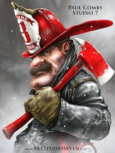 Image result for firefighters art