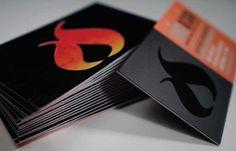 spot varnish die cut business cards