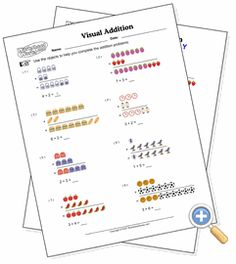 Find worksheets about Beginning Math Homeschool Kindergarten, Homeschooling, Worksheet Generator, Addition Worksheets, Maths, Objects, Fine Art, Homeschool, Visual Arts