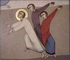 MAXIM SHESHAKOV, The Martyrdom of St. Stephen the Archdeacon. Egg tempera on gessoed panel.
