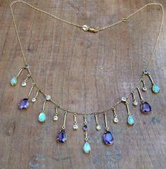 Image of Sweet plum fringe necklace
