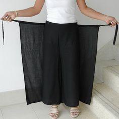 Unisex Pant String Tie Pants (Wrap pants)... Loose And Comfy Black Color.