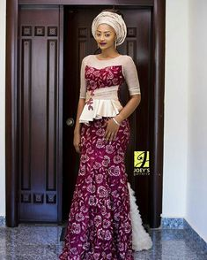 Fashionable, Stylish, and Exquisite Ankara Styles! Checkout How Fashionistas Are Rocking Their Amazing Pieces - Wedding Digest Naija African Lace Dresses, Latest African Fashion Dresses, African Dresses For Women, African Women, Ankara Fashion, African Wedding Attire, African Attire, African Wear, African Inspired Fashion