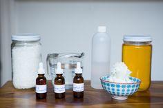 Organic body butter (more like a cream), organic body scrub, and organic green mask