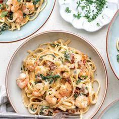 Pasta Recipes Video, Seafood Pasta Recipes, Prawn Recipes, Fish Recipes, Cooking Recipes, Healthy Recipes, Recipe Pasta, Easy Cooking, Cooking Tips