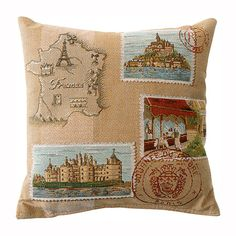 pillows decorative | home decor french pillows french postcard decorative pillow…