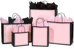 Pink & black gift bag collection