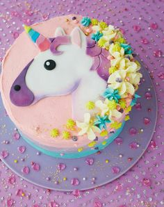 We're totally obsessed with Cakemoji, a fabulous new book dedicated to showing you how to create the coolest emoji inspired treats! This may well be our favourite how-to from the book, it shows you how to create the most beautiful unicorn emoji cake! Cake Cookies, Cupcake Cakes, Oreo Cupcakes, Kid Cakes, Unicorn Emoji, Unicorn Cakes, Unicorn Party, Unicorn Cake Images, Easy Unicorn Cake