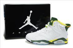 Nike Air Jordan 6 VI Retro-Olympic (White/green- yellow) www.uxfoundry.com...