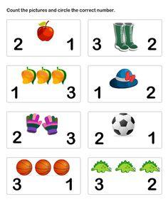 math Worksheets - preschool Worksheets - Number Matching Worksheet 5