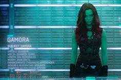 "We also meet the assassin Gamora (Zoe Saldana, green this time!)… | The First Full ""Guardians Of The Galaxy"" Trailer Has Arrived!"