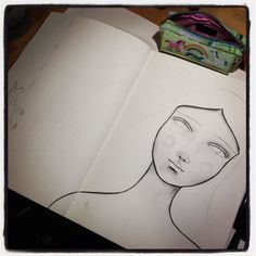 Working BIIIIIG inspired by Tamara Laporte  #artjournal #whimsical #stabiloall #portrait #irisimpressionsart #beabitmoreyou