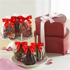 Precious Heart Tower with Caramel Apples | Mrs. Prindable's Valentine's Day Collection 2015