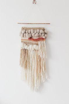Vente ! La main tissé de la tenture, tapisserie tissée, tissage mural, art textile