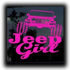 Jeep Girl - Flip Flops Vinyl Decal Choose Size and Color Made with 100%…
