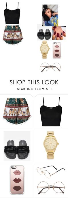 """""""Today I don't feel like doing anything I just wanna lay in my bed""""- Bruno Mars """"Lazy song"""" by foreignasf162000 ❤ liked on Polyvore featuring WearAll, Michael Kors, Casetify and Sunday Somewhere"""