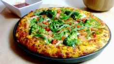 Puszysta pizza z brokułami i rukolą. | Eat Green