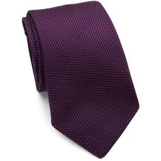 Polo Ralph Lauren Textured Silk Tie (253 CAD) ❤ liked on Polyvore featuring men's fashion, men's accessories, men's neckwear, ties, apparel & accessories and purple