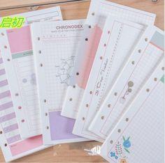 20 hojas/porción A6 reemplazar color Femenino Colorido recargas cuaderno espiral A5 núcleo de hojas sueltas planificador papelería carpeta de anillas papel en Cuadernos de Office & School Supplies en AliExpress.com | Alibaba Group