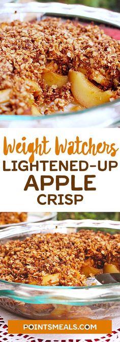 Weight Watchers Lightened-Up Apple Crisp! Weight Watchers Snacks, Plats Weight Watchers, Weight Loss, Weigh Watchers, Weight Watchers Apple Recipes, Ww Desserts, Healthy Desserts, Healthy Recipes, Gratin