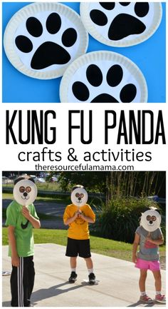 We love doing family nights in the summer. Before we get started with the movie we love to do a movie themed craft and activity. We made panda masks and used paw prints to play a couple of games before watching Kung Fu Pandas 3. #dataandamovie #cbias [ad]