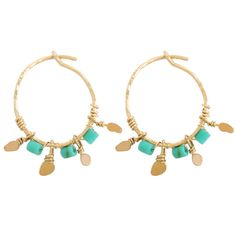 Turquoise hoops (Stephanie Jewels) shop them on Les trouvailles d'Elsa.fr