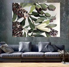 'The Deep Breath' Original Painting Artist Painting, Painting & Drawing, Acrylic Painting Canvas, Canvas Art, Tropical Art, Paintings I Love, Deep Breath, Large Art, Botanical Art