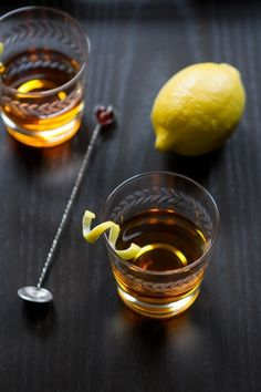 Classic Sazerac | 23 Delicious Ways To Drink Whiskey Tonight | Rye whiskey or Cognac + Peychaud's Bitters + sugar + absinthe + lemon peel.