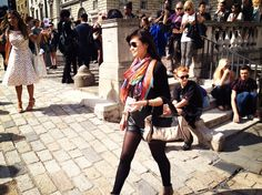 Spotted wearing a JANE CARR wrap at London Fashion Week S/S 13